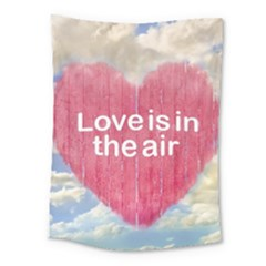 Love Concept Poster Design Medium Tapestry by dflcprints