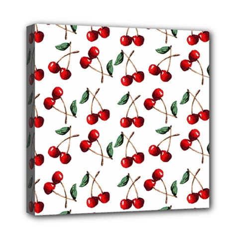Cherry Red Mini Canvas 8  X 8  by Kathrinlegg