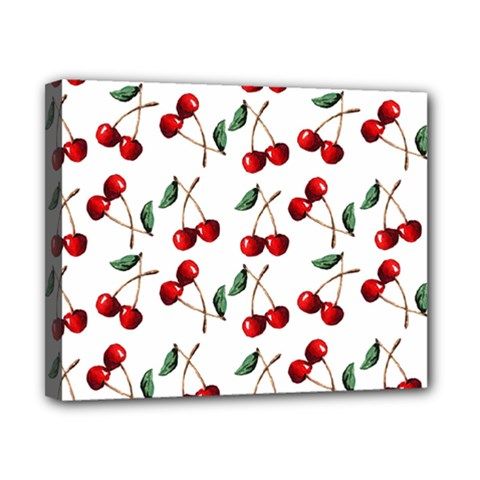 Cherry Red Canvas 10  X 8  by Kathrinlegg