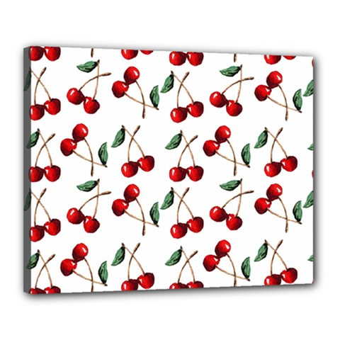 Cherry Red Canvas 20  X 16  by Kathrinlegg