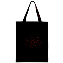 Abstract Pattern Honeycomb Zipper Classic Tote Bag by BangZart