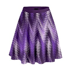 Purple Wavy High Waist Skirt by KirstenStar