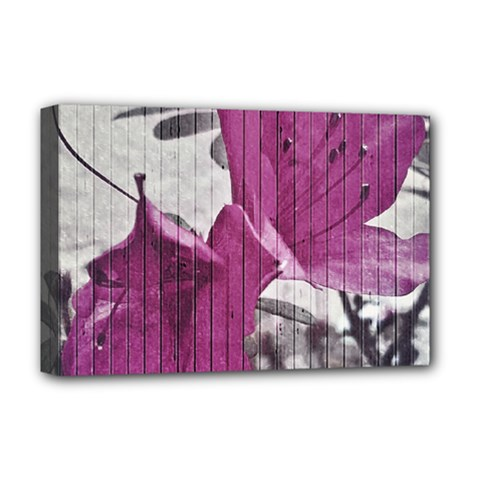 Vintage Style Flower Photo Deluxe Canvas 18  X 12   by dflcprints