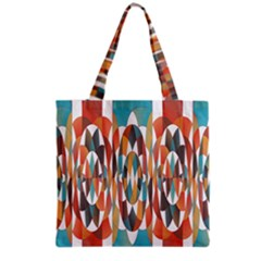 Colorful Geometric Abstract Grocery Tote Bag by linceazul