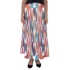 Colorful Geometric Abstract Flared Maxi Skirt by linceazul