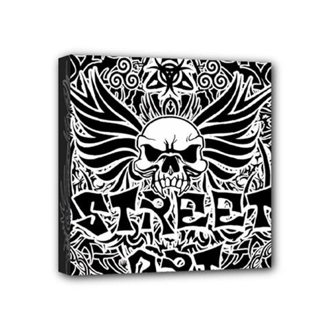 Tattoo Tribal Street Art Mini Canvas 4  X 4  by Valentinaart