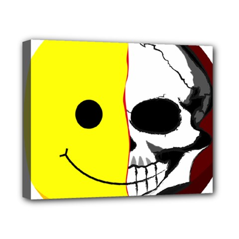 Skull Behind Your Smile Canvas 10  X 8  by BangZart