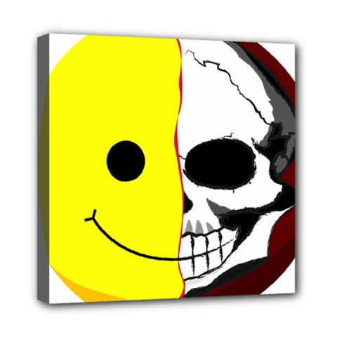 Skull Behind Your Smile Mini Canvas 8  X 8  by BangZart