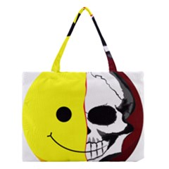 Skull Behind Your Smile Medium Tote Bag by BangZart