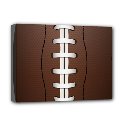 Football Ball Deluxe Canvas 16  X 12   by BangZart