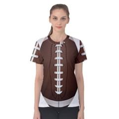Football Ball Women s Cotton Tee