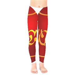 Easter Decorative Red Egg Kids  Legging by BangZart