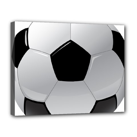 Soccer Ball Canvas 14  X 11  by BangZart