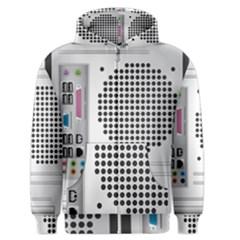 Standard Computer Case Back Men s Zipper Hoodie by BangZart