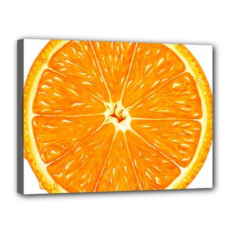 Orange Slice Canvas 16  X 12  by BangZart