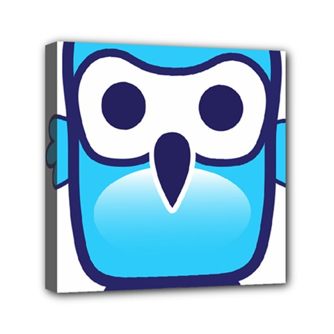 Owl Logo Clip Art Mini Canvas 6  X 6  by BangZart