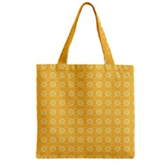Yellow Pattern Background Texture Zipper Grocery Tote Bag by BangZart