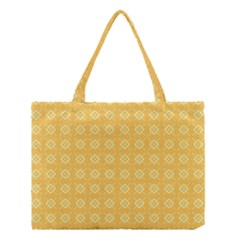 Yellow Pattern Background Texture Medium Tote Bag by BangZart