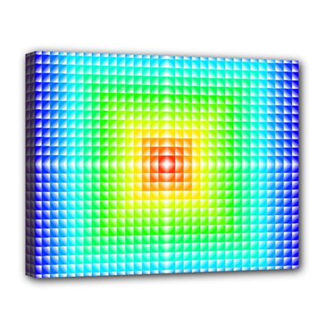 Square Rainbow Pattern Box Canvas 14  X 11  by BangZart