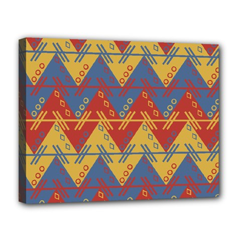 Aztec South American Pattern Zig Canvas 14  X 11  by BangZart
