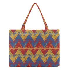 Aztec South American Pattern Zig Medium Tote Bag by BangZart