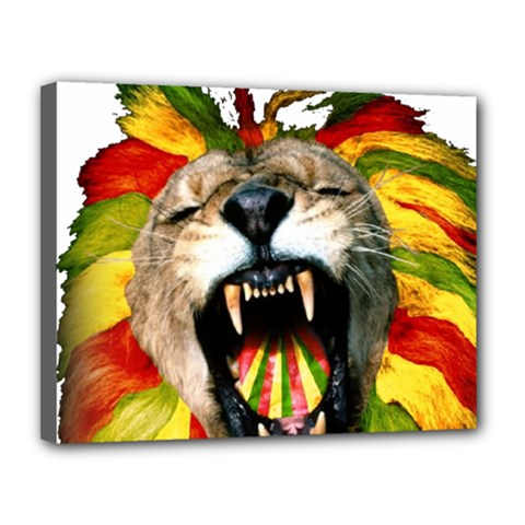 Reggae Lion Canvas 14  X 11  by BangZart