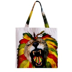 Reggae Lion Grocery Tote Bag by BangZart