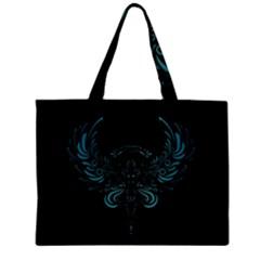 Angel Tribal Art Zipper Mini Tote Bag by BangZart