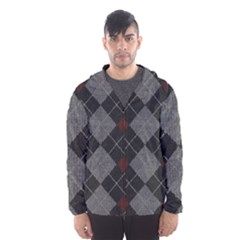 Wool Texture With Great Pattern Hooded Wind Breaker (men) by BangZart