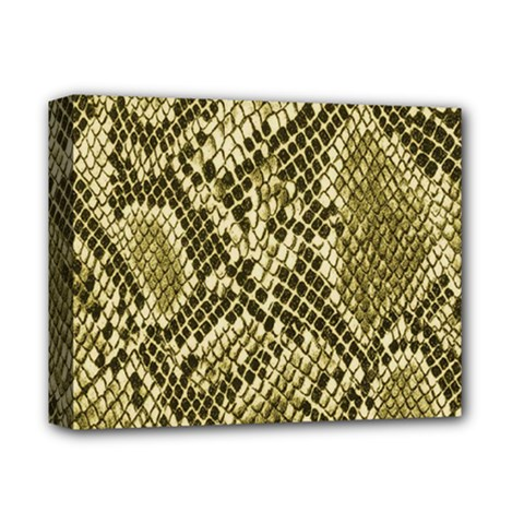 Yellow Snake Skin Pattern Deluxe Canvas 14  X 11  by BangZart
