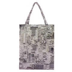 White Technology Circuit Board Electronic Computer Classic Tote Bag by BangZart
