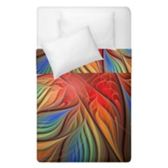 Vintage Colors Flower Petals Spiral Abstract Duvet Cover Double Side (single Size) by BangZart