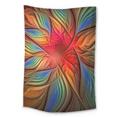 Vintage Colors Flower Petals Spiral Abstract Large Tapestry by BangZart