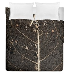 Vein Skeleton Of Leaf Duvet Cover Double Side (queen Size) by BangZart
