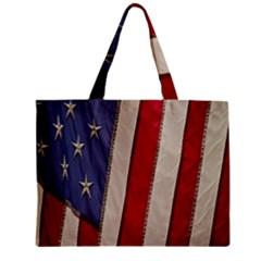 Usa Flag Zipper Mini Tote Bag by BangZart