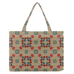 Traditional Scandinavian Pattern Medium Zipper Tote Bag by BangZart