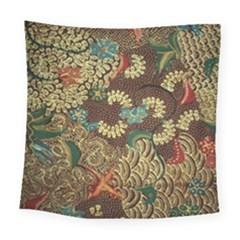 Traditional Batik Art Pattern Square Tapestry (large)