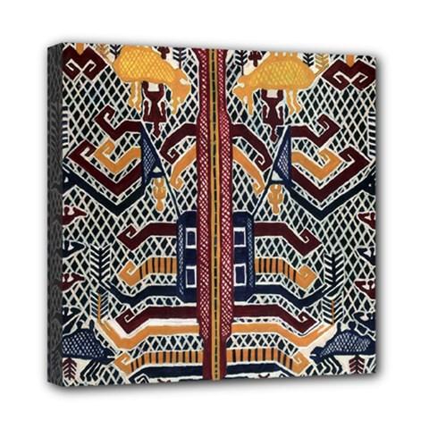 Traditional Batik Indonesia Pattern Mini Canvas 8  X 8  by BangZart