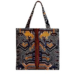 Traditional Batik Indonesia Pattern Zipper Grocery Tote Bag by BangZart