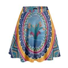 Traditional Pakistani Art High Waist Skirt by BangZart
