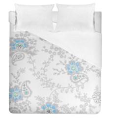 Traditional Art Batik Flower Pattern Duvet Cover (queen Size) by BangZart