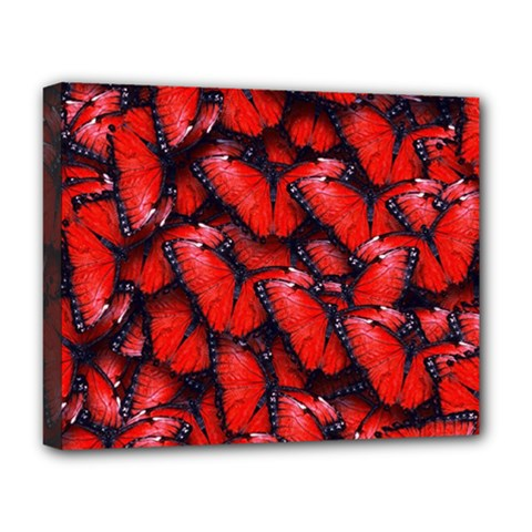 The Red Butterflies Sticking Together In The Nature Deluxe Canvas 20  X 16   by BangZart