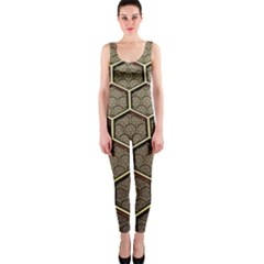Texture Hexagon Pattern Onepiece Catsuit by BangZart
