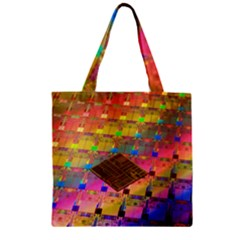 Technology Circuit Pentium Die Zipper Grocery Tote Bag by BangZart