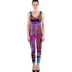 Technology Circuit Board Layout Pattern Onepiece Catsuit by BangZart