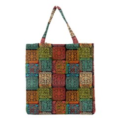 Stract Decorative Ethnic Seamless Pattern Aztec Ornament Tribal Art Lace Folk Geometric Background C Grocery Tote Bag by BangZart