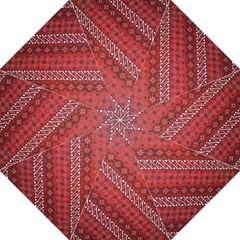 Red Batik Background Vector Hook Handle Umbrellas (medium) by BangZart