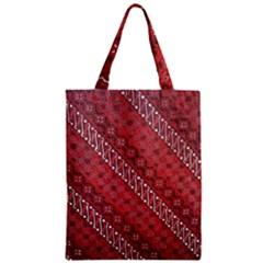 Red Batik Background Vector Zipper Classic Tote Bag by BangZart