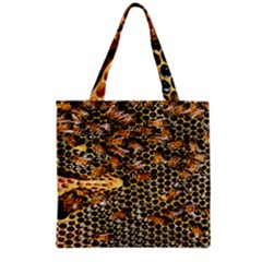 Queen Cup Honeycomb Honey Bee Grocery Tote Bag by BangZart