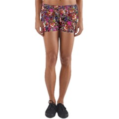 Psychedelic Flower Yoga Shorts by BangZart